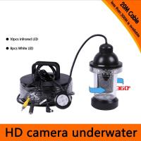 Wholesale 50Meters Depth 360 Degree Rotative Underwater Camera with 18pcs of White or IR LED from china suppliers