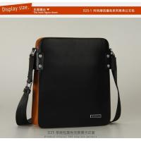 Wholesale drop shipping real leather color blocking male bags factory price from china suppliers