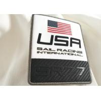 Wholesale Fashion Logo Design Printed Garment Labels , Flag  Pattern Reflective Patches For Clothing from china suppliers