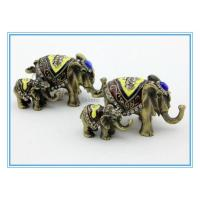 Wholesale Vintage Style Handmade Enamel Jewelry box with Elephant Shape from china suppliers