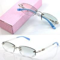 Wholesale 1011 Rimless Crystal Woman′s Optical Eyeglasses Frames from china suppliers
