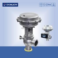 Wholesale Stainless steel sanitary diaphragm regulating pneumatic reversing valve with square positioner from china suppliers