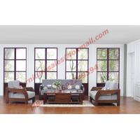 Wholesale Solid Wood Sofa with Upholstery for Luxury Living Room Made in China from china suppliers