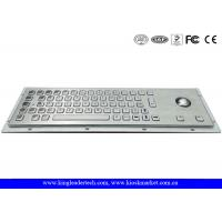 Wholesale Panel Mount Brushed Metal Industrial Keyboard With Trackball And 64 Keys from china suppliers