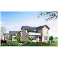 Wholesale 2 Story Light Steel Prefabricated Woden house , White Prefab Steel House For Living from china suppliers