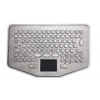 Quality Mini IP65 Explosion Proof desk top industrial metal keyboard With waterproof touchpad for sale