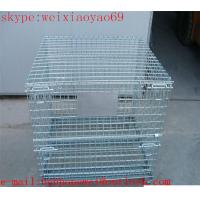 Wholesale heavy gauge wire mesh storage  cage/pallet cage/wire security cage/steel storage cabinets (factory price ) from china suppliers