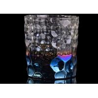 Quality Debossed Iridescent Glass Candle Holders For Wedding Home Decoration for sale