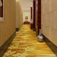 Buy cheap 4m Width Golden Hotel Corridor Decorative Axminster Carpet For Sales With Low Prices from wholesalers