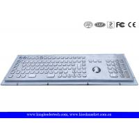 Wholesale Rugged Metal Industrial Keyboard With Trackball 103 Function Keys And Number Keypad from china suppliers