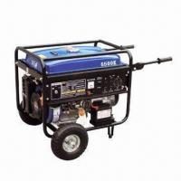 Wholesale 389cc gasoline generator with 5kW power, 100% copper wire, E-starter, wheel and handle from china suppliers
