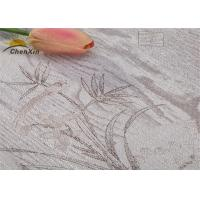 Wholesale Delicate Embroidered Wall Covering Jointless Fabric Wall paper ISO9001 Certificated from china suppliers