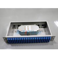 Wholesale Compact 48 port SC cable optical distribution box 2U Rack Mounted Structure from china suppliers