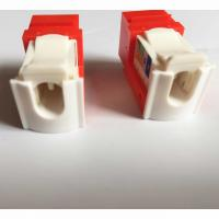 Quality UTP 90 Degree CAT6 RJ45 Keystone Jack, Tooless, can customize the color for sale