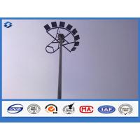 Wholesale LED Electric Q235B / A283 M steel mast highway light pole , light tower mast customized color from china suppliers