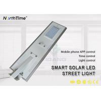 Wholesale 6500-7200LM Customized 60W All In One Solar Street Light With Bridgelux LED Chip from china suppliers