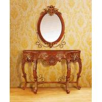 Wholesale Makeup Dresser Console Table With Wall Mirror Brown Painted European-style from china suppliers