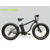 "Wholesale 26""X 5.0 Beach Cruiser Disc Brakes Fat Wheel Bicycle 48V 500W Rear Gear Motor from china suppliers"