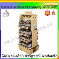 Buy cheap Custom wooden wine/beer retail store display rack from wholesalers