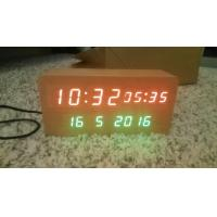 Wholesale wood alarm azan clock quran speaker on table clock inside 8GB TF card English languages with IR control from china suppliers