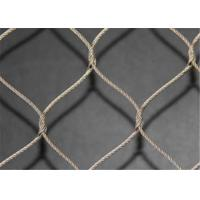 Wholesale High Tensile Strength SS Wire Rope Mesh , Safety Stainless Steel Rope Net from china suppliers