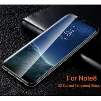 Wholesale 3D Curved  Full Cover Edge Glue Tempered Glass Screen Protector for Samsung Note8 from china suppliers