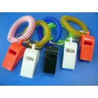 Wholesale Promotional Custom Colors Plastic Whistle and Wrist Coil Combo Safety Products from china suppliers