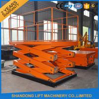 Wholesale 1 ton 3.3 m CE Electric Hydraulic Scissor Lift Platform for Material Handling from china suppliers