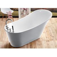 Wholesale Classic Resin Acrylic Free Standing Bathtub With Faucet Oval Shaped from china suppliers