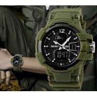 Wholesale Skmei S Shock 50m Waterproof Military Mens Army Wrist Watch Swim Dive Climb Hunt Green 1040 from china suppliers