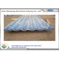 Wholesale Color Coated Corrugated Aluminum Sheet / Zinc Aluminum Roofing Sheet 0.8mm Thickness from china suppliers