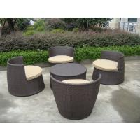 Wholesale Brown Resin Wicker Bullet Sofa Set , Steel Frame Obelisk Sofa Set from china suppliers