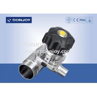 Quality Multiport Sanitary Diaphragm Valve , Three port valve with Welding Ends for sale