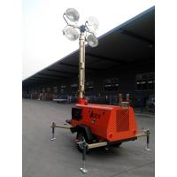 Wholesale 9m Diesel Mobile Light Tower 4*1000W Manual Operation from china suppliers