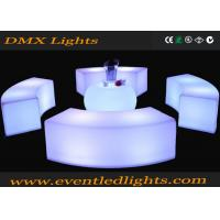 Wholesale Plastic remote control Led Outdoor Furniture , Curved Bench Illuminated Chairs for bar club events from china suppliers