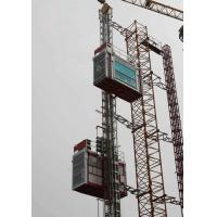 Wholesale Double Cabin Cage Hoists Material Lifting Equipment for Civil Architecture from china suppliers