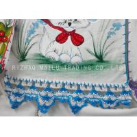 Wholesale Hand Crochet Accessories / 100% Cotton Blue And White Crochet Hand Towels from china suppliers