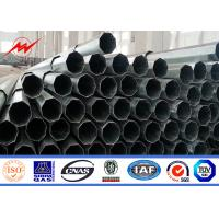 Wholesale Black Welding Steel Electricity Transmission Line Poles 25m 4mm Thickness from china suppliers