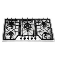 Wholesale Built In 86cm 5 Burner Gas Hob Stainless Steel With Cast Iron Pan Support from china suppliers