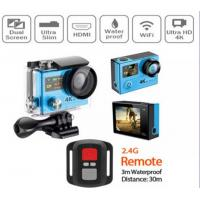 Wholesale Mini Wifi Waterproof Action Camera With 30M Waterproof Case , Microphone Audio Input from china suppliers