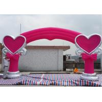 Wholesale Pink 210D Oxford Fabric Inflatable Arches With Lovely Model For Wedding from china suppliers