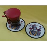 Wholesale Embroidery table coasters, table cup mats, home textile cotton hot pads, in stock, MOQ200, from china suppliers