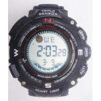 Wholesale Triple Sensor Casio Style Multifunction Digital Watch Dive 30m Depth PU Band from china suppliers