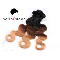 Wholesale Indian Virgin Ombre Remy Hair Extensions , Body Wave Human Hair Weave from china suppliers