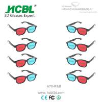 Wholesale Plastic Red Cyan Blue 3D Glasses Anaglyph For Passive 3 D Films from china suppliers