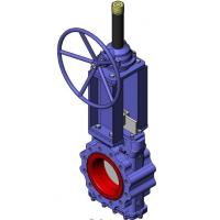 Wholesale Heavy Duty Knife Cast Steel Gate Valve With Tipe Handwheel And Rising Stem from china suppliers