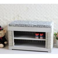 Wholesale Home Furniture Organizer Wooden Shoe Rack Hand-woven Sideboard from china suppliers