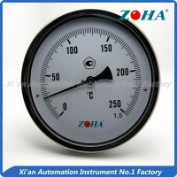 - 60~600°C Bimetallic Stemmed Thermometer , High Temperature Gauge Thermometer
