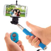 Wholesale Universal Mobile Phone Monopod Selfie Stick With Bluetooth Remote Control Shutter Button from china suppliers