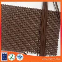 Wholesale Brown color wholesale Textilene fabrics 2X2 woven style High Strength fabrics from china suppliers